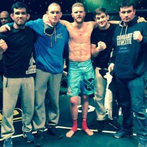 """The Team on the night. L-R: Jason Tan, Mark Kinsella, Tim Barnett, Mike Wootten, Peter """"massive"""" Davies"""