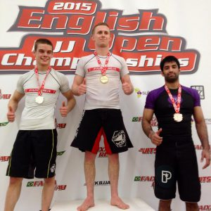 Peter taking gold at the NoGi English Open